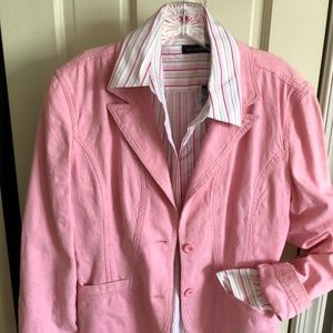 Pink Denim Jacket and Blouse